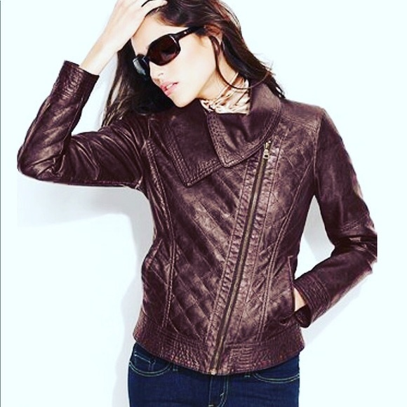 Guess Jackets & Blazers - Guess Quilted Moto Jacket